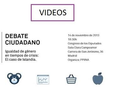 """Videos del """"Debate ciudadano: Igualdad de género en tiempos de crisis: El caso de Islandia"""