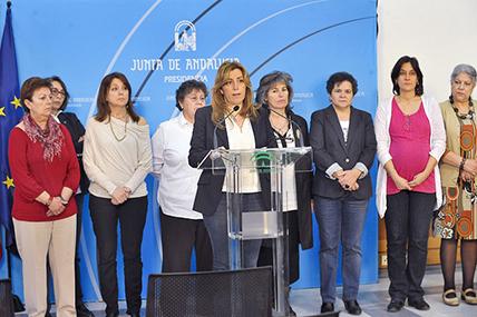 Foto: Junta de Andalucía. Firma del Pacto por la igualdad en Andalucía (Abril 2013)