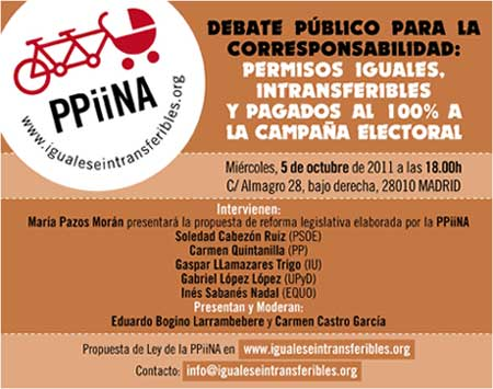 Debate público para la corresponsabilidad 'Los PPiiNA 100% a la campaña electoral'