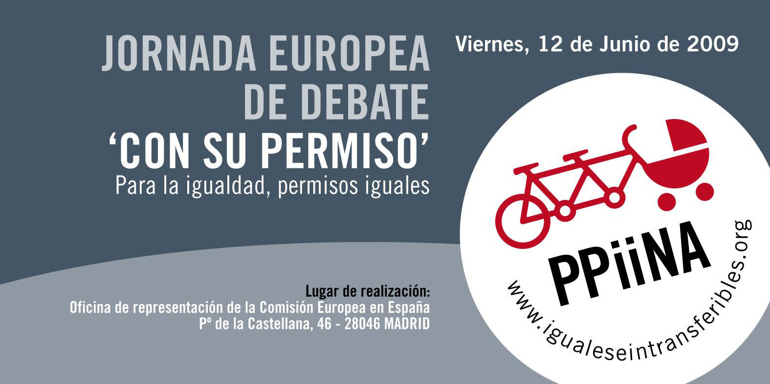 """I Jornada Europea de Debate """"Con su permiso"""": Para la Igualdad, permisos iguales"""