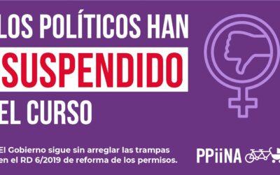 Los políticos han suspendido el curso